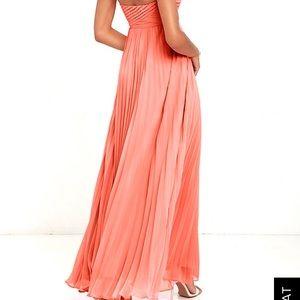 b8181ff158d5 Lulu's Dresses | Nwt Strapless Coral Pink Maxi Dress | Poshmark